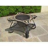 San Marco Mosaic Fire Pit and Beverage Cooler Table
