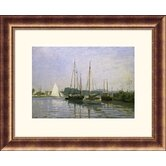 Boats: Regatta at Argenteuil c. 1872-73 Bronze Framed Print - Claude Monet