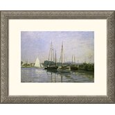 Boats: Regatta at Argenteuil c. 1872-73 Silver Framed Print - Claude Monet