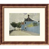 La Maison Weue, Zaandau Bronze Framed Print - Claude Monet