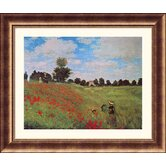 Poppies at Argenteuil  Bronze Framed Print - Claude Monet