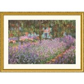 The Artist's Garden at Giverny, 1900 Gold Framed Print - Claude Monet