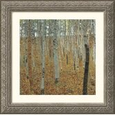 Birch Forest Silver Framed Print - Gustav Klimt