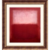 White Over Red Bronze Framed Print - Mark Rothko