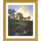 Hunt Farm Gold Framed Print - Maxfield Parrish