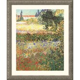 Museum Reproductions 'Flowering Garden' by Vincent Van Gogh Framed Painting Print