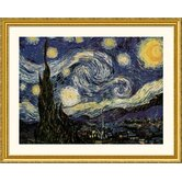 The Starry Night Gold Framed Print - Vincent van Gogh