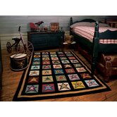 Penny Star Patch Sampler Novelty Rug
