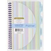 Undated Weekly and Monthly Planner Agenda Book