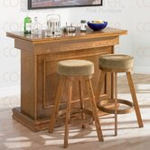 Foxton Bar/Game Table Set in Oak
