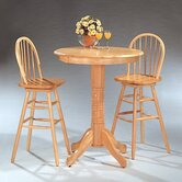 Kingsburg Round Bar Table Set in Natural Finish