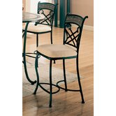 Cottonwood 24&quot; Barstool with Faux Marble Inlay in Black