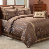 HourGlass Comforter Set in Brown