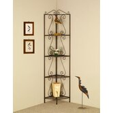 Four Tier Corner Shelf in Goldish Copper