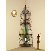 Four Tier Metal Etagere Shelf in Goldish Copper