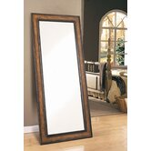 Sedro Leaning Floor Mirror Antique Brown Crackle