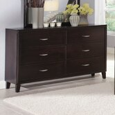 Clinton 6 Drawer Dresser