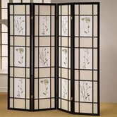 4 Panel Shoji Screen Room Divider
