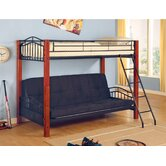 Elk City Twin over Futon Loft Bed with Angled Ladder