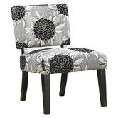 Toyah Flower Print Fabric Slipper Chair