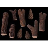 9 Piece Assorted Log Set for Ethanol fireplaces Heat Resistant Pressed Ceramic Fiber
