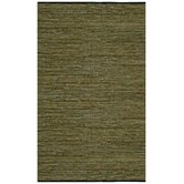 Matador Green Leather Chindi Rug