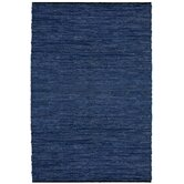 Matador Blue Leather Chindi Rug