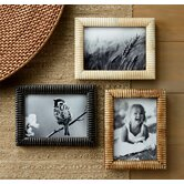 Kindwer 3 Piece Hand Carved Bone Ribbed Picture Frame Set