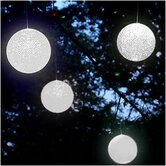 Solar Hanging Snowball Light (Set of 4)