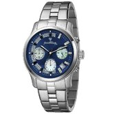Women's Alessandra Watch in Silver with Blue Dial