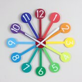 Rainbow Sunburst Clock
