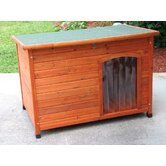 Slant Roof Cedar Dog House