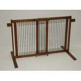 Freestanding Wood/Wire Pet Gate