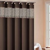 Rania Shower Curtain in Brown / Black