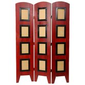 Photo Display Low Room Divider in Rosewood