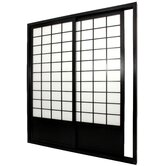Single Sided Sliding Door  Shoji Room Divider in Black
