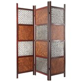 6Feet Tall Bamboo Leaf Room Divider