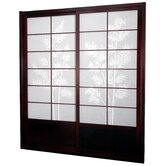 Bamboo Tree Shoji Sliding Door Kit in Rosewood