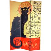 6Feet Tall Double Sided Chat Noir Room Divider