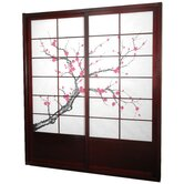 Cherry Blossom Shoji Sliding Door Kit in Rosewood