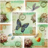 "Dragonfly and Butterfly Canvas Wall Art - 31.5"" x 31.5"" (Set of 5)"