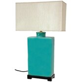 "Rectangular 28"" H Table Lamp with Rectangle Shade"