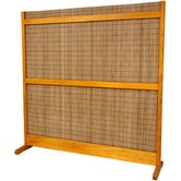 6 Feet Tall Take Room Divider in Honey