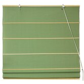 Cotton Roman Shades Blinds in Light Green