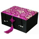 Silk Fuchsia Dragon Jewelry Box