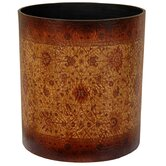 Olde-Worlde Baroque Waste Basket in Faux Leather