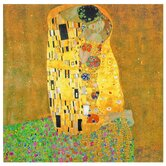 "The Kiss - Works of Klimt Canvas Wall Art - 19.75"" x 19.75"""