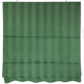 "36"" Striped Roman Retractable Blinds in Soft Green"