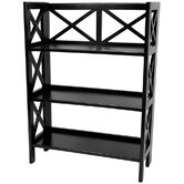 Architectural Bookcase Shelf Unit in Black
