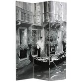 Double Sided Scenes of Venice Canvas Room Divider